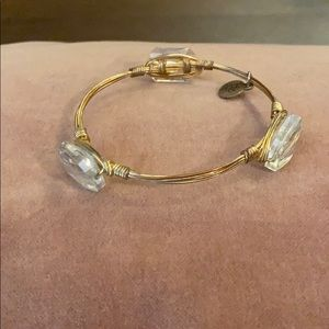 Bourbon and Bow ties gold bracelet